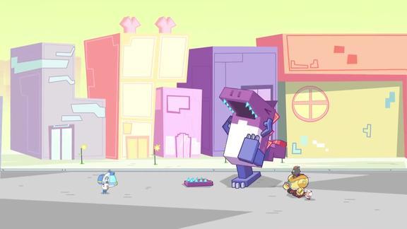 喜洋洋:积木恐龙下吧掉了,居然能够自行安装,一看就是盗版的!