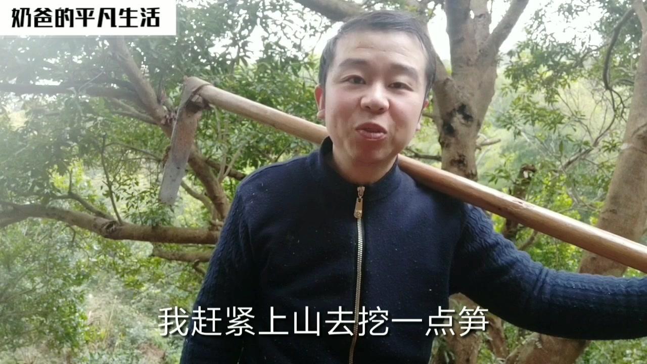 """上山挖冬笋,小伙的手机三角架竟被农村大姐当成了""""挖笋神器"""""""