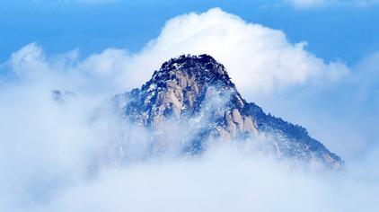 黄山之冬:白雪与松、石、云、泉融为一体,美不胜收