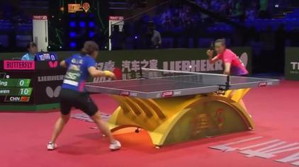经典回看|世乒赛半决赛:刘诗雯VS丁宁,刘诗雯后面两局打疯了!