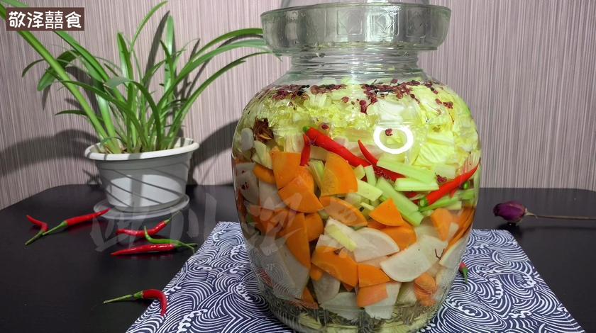 正宗四川泡菜的腌制方法,一份泡菜,一种情怀。