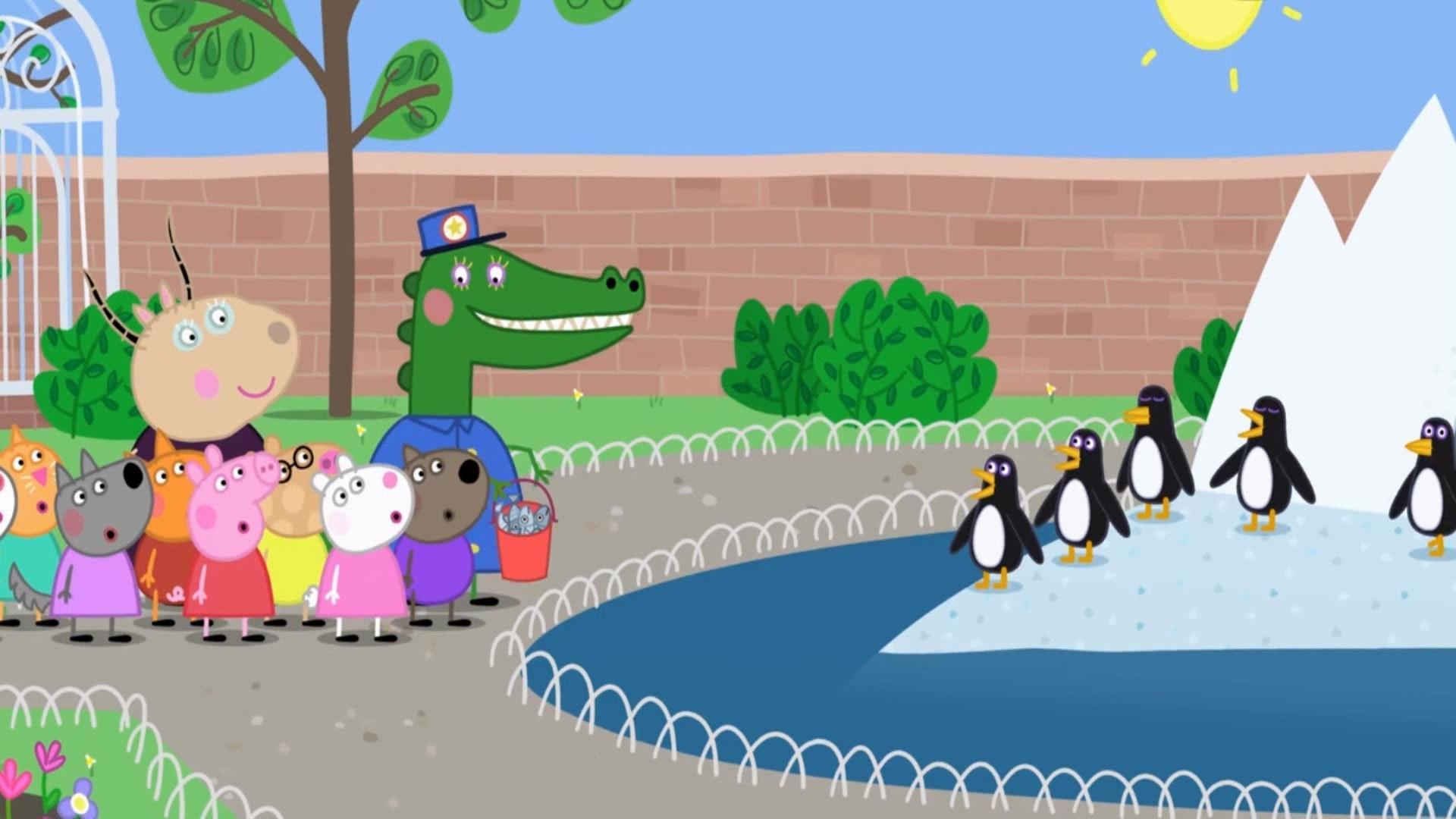 小猪佩奇第7季:动物园参观企鹅