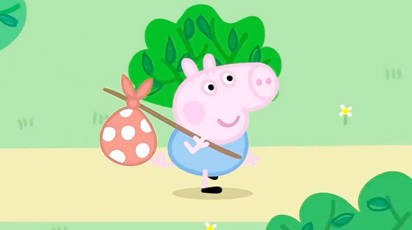 小猪佩奇:哦!是乔治背着小包要离家出走吗?原来是要寻找宝藏