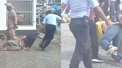 惨无人道!印尼狱警被曝在沙砾上拖行犯人,还命令他们跪地爬行