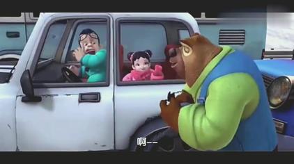 熊出没:光头强真没礼貌,不买火车票,居然还插队
