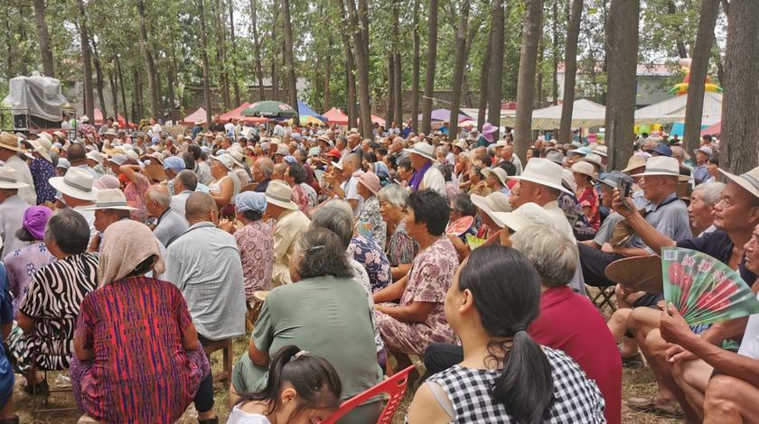 坐标周口:看看我们农村高温下,坐着那么多人都在干什么了呀?