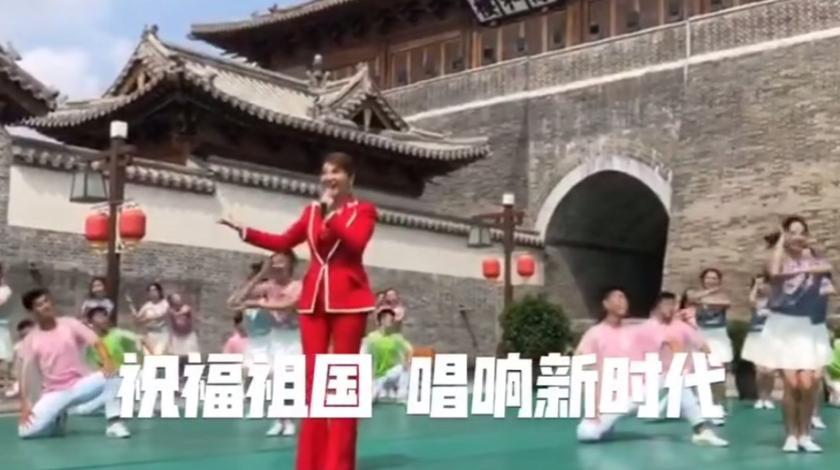 乌兰图雅国庆特别节目录制《点赞新时代》祝福祖国!好视频分享。