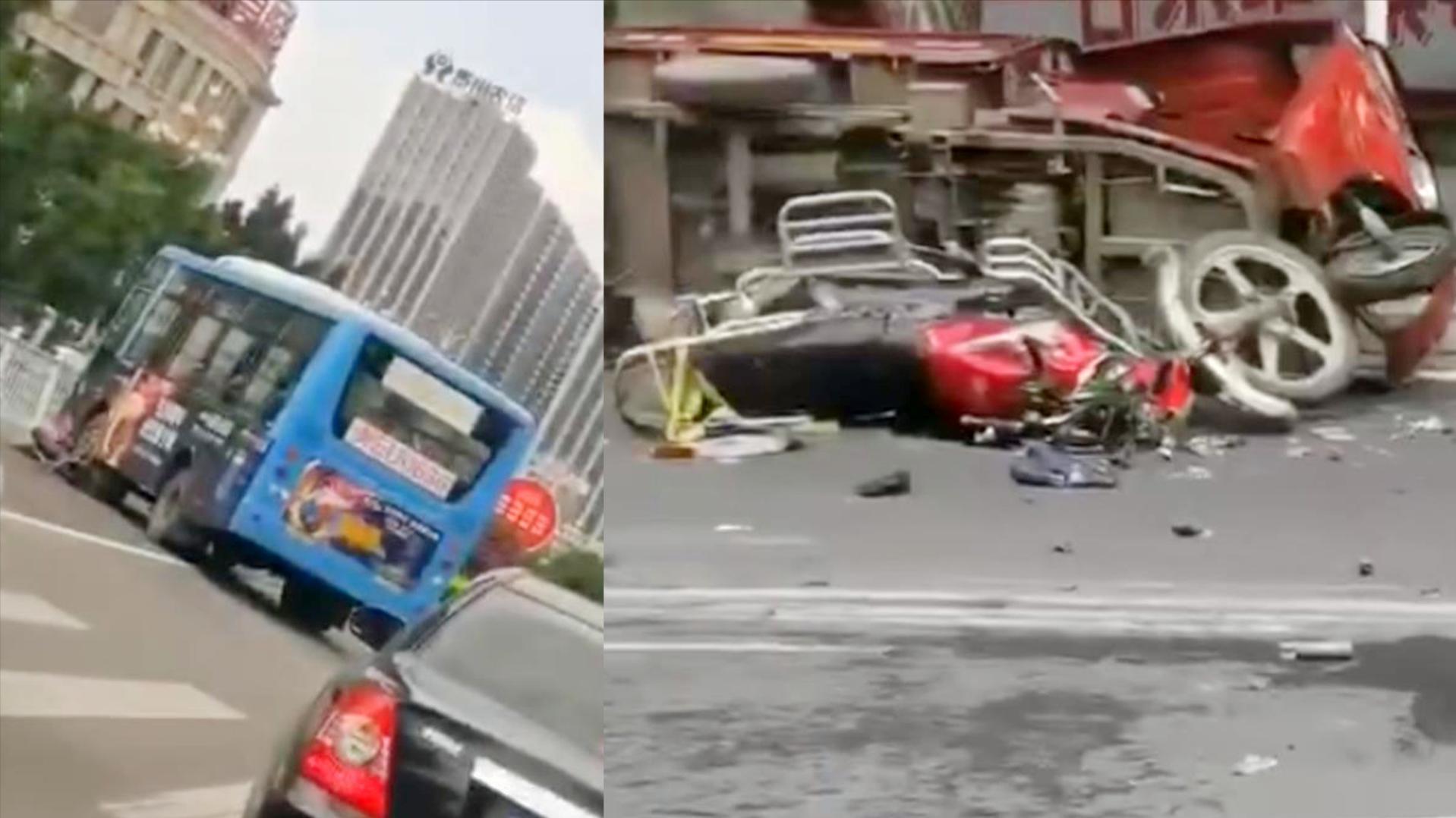 官方通报:贵州兴义失控公交系与同车道车辆发生追尾 已致1死5伤