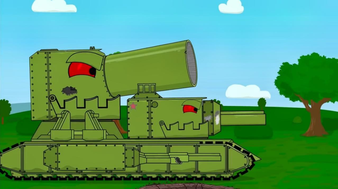 坦克世界动画片:对战怪物坦克,别以为你长的丑,我就会害怕你们