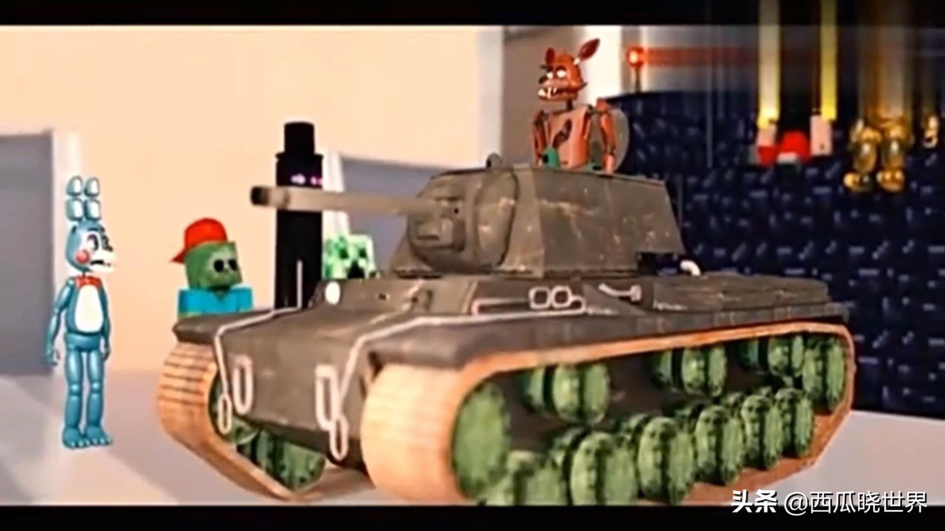 我的世界动画-怪物学院大战FNAF学院 枪击比赛2