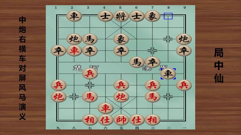 中国象棋全局谱:中炮右横车对屏风马演义 第1局