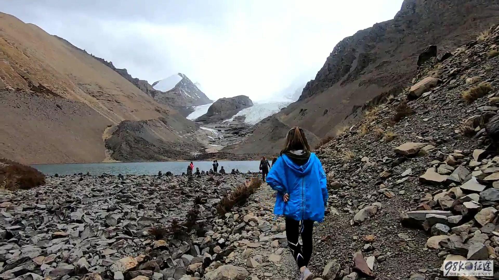 在西藏不缺美景和靓女,海拔4800的冰川,看看遇见了谁,认识吗