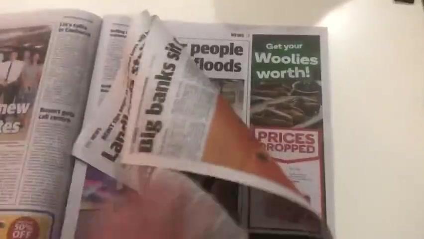 【#澳大利亚报纸印空白页当厕纸#】 报社供读者紧急情况下使用